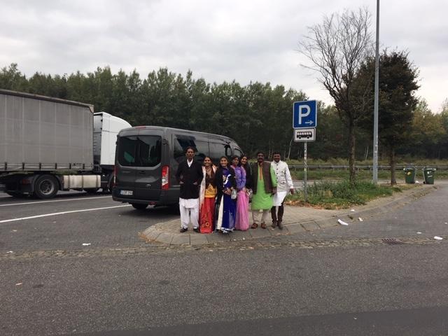 Aufbruch zur Fahrt nach Aachen